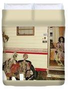 Skeleton Family Vacation Duvet Cover