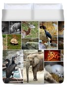 Zoo Collage Duvet Cover