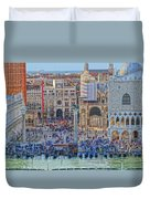 Zoom On St Marks Square Venice Italy Duvet Cover