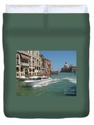 Zooming On The Canals Of Venice Duvet Cover