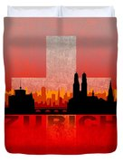 Zurich City Duvet Cover