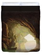 A Grotto In The Gulf Of Salerno - Sunset Duvet Cover