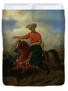 An Ottoman On Horseback  Duvet Cover