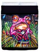 Atomic Frog Duvet Cover