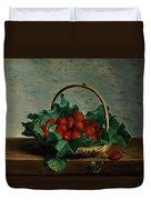 Basket Of Strawberries Duvet Cover