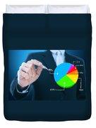 Businessman Writing Graph Duvet Cover by Setsiri Silapasuwanchai