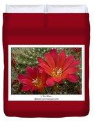 Cacti Bloom Duvet Cover