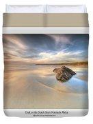 Dusk On The Beach Duvet Cover