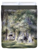 In The Park At Saint-cloud Duvet Cover