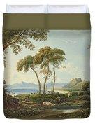 Landscape With Harlech Castle Duvet Cover