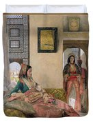 Life In The Harem - Cairo Duvet Cover by John Frederick Lewis