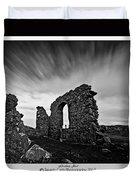 Llanddwyn Island Ruins Duvet Cover