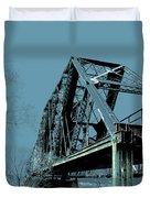 Mississippi River Rr Bridge At Memphis Duvet Cover