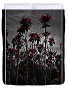 Mono Flowers Duvet Cover