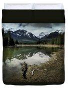Muleshoe Pond Reflection Banff Duvet Cover