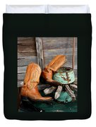 Old Cowboy Boots Duvet Cover