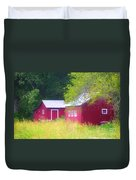 Peaceful Country Barn And Meadow Duvet Cover