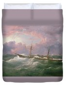 Portrait Of The Lsis A Steam And Sail Ship Duvet Cover