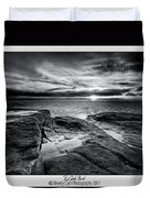 Red Rock Beach Duvet Cover