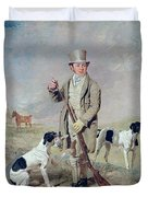Richard Prince With Damon - The Late Colonel Mellish's Pointer Duvet Cover