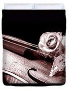 Rose Violin Viola Duvet Cover