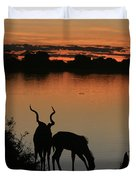 South African Sunset Duvet Cover