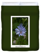 Spring Flower And Hoverfly Duvet Cover