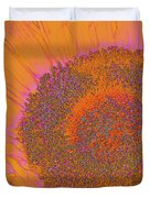 Sunflower In Orange And Pink Duvet Cover