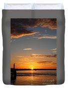 Sunset Over The Sea Duvet Cover
