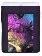When The Night Comes Duvet Cover by Linda Sannuti
