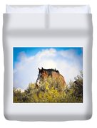 Wild Horse In The Sage Duvet Cover