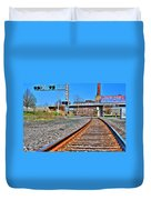 0001 Train Tracks Duvet Cover