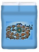 0001 Turquoise And Pearls Duvet Cover