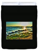 00015 Windy Waves Sunset Rays Duvet Cover