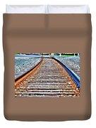 0002 Train Tracks Duvet Cover