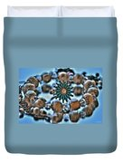 0004 Turquoise And Pearls Duvet Cover