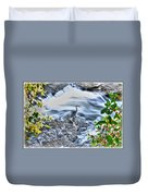0005 Blue Heron At Glen Falls Williamsville Ny Duvet Cover