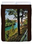 001 Niagara Gorge Trail Series  Duvet Cover