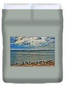 001 On A Summers Day  Erie Basin Marina Summer Series Duvet Cover