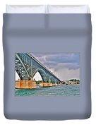 001 Stormy Skies Peace Bridge Series Duvet Cover