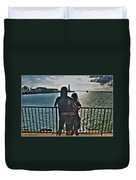 0017 The Lion And Lioness As One Duvet Cover