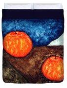 Still Life With Apples I Duvet Cover