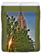 002 Electric Tower At Sunrise  Duvet Cover