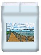 004 Stormy Skies Peace Bridge Series Duvet Cover