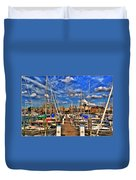 005 On A Summers Day  Erie Basin Marina Summer Series Duvet Cover