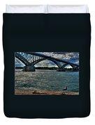 005 Peace Bridge Series II Beautiful Skies Duvet Cover