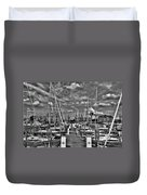 005bw On A Summers Day  Erie Basin Marina Summer Series Duvet Cover