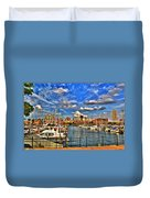 006 On A Summers Day  Erie Basin Marina Summer Series Duvet Cover