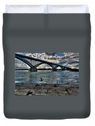 006 Peace Bridge Series II Beautiful Skies Duvet Cover