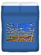 007 On A Summers Day  Erie Basin Marina Summer Series Duvet Cover